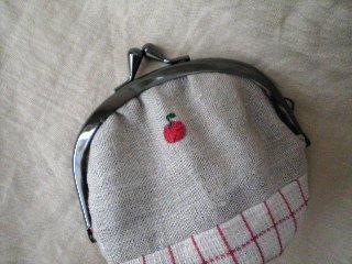 がま口お財布(りんご)