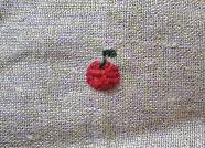 リンゴの刺繍